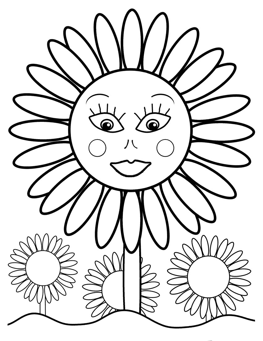 sunflower pictures to colour in picture of sunflower coloring pages gtgt disney coloring pages pictures to sunflower colour in