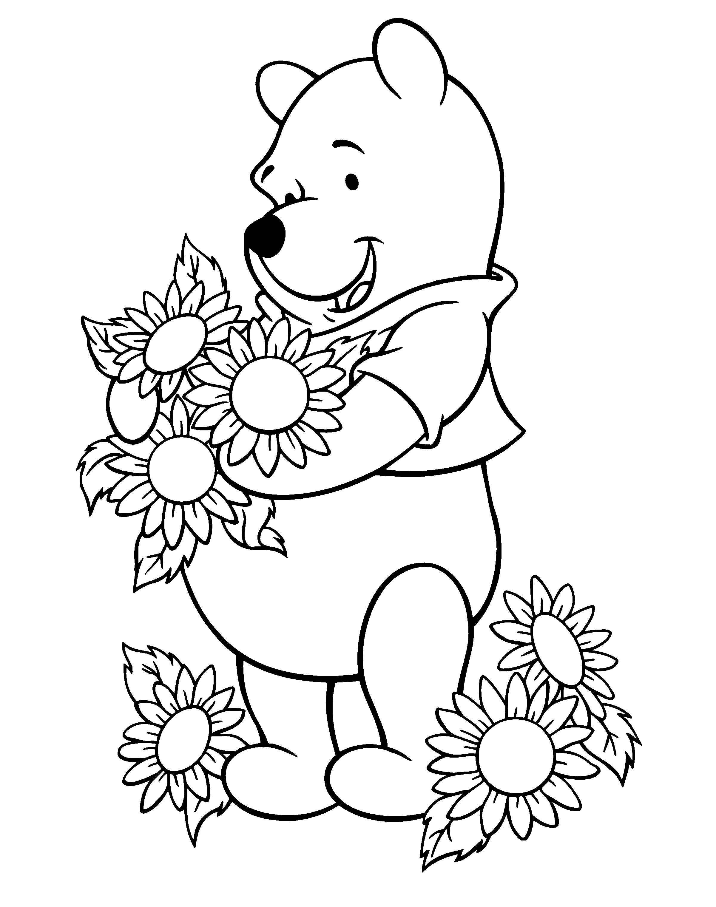 sunflower pictures to colour in printable sunflower coloring pages flowers pdfs print colour to pictures in sunflower