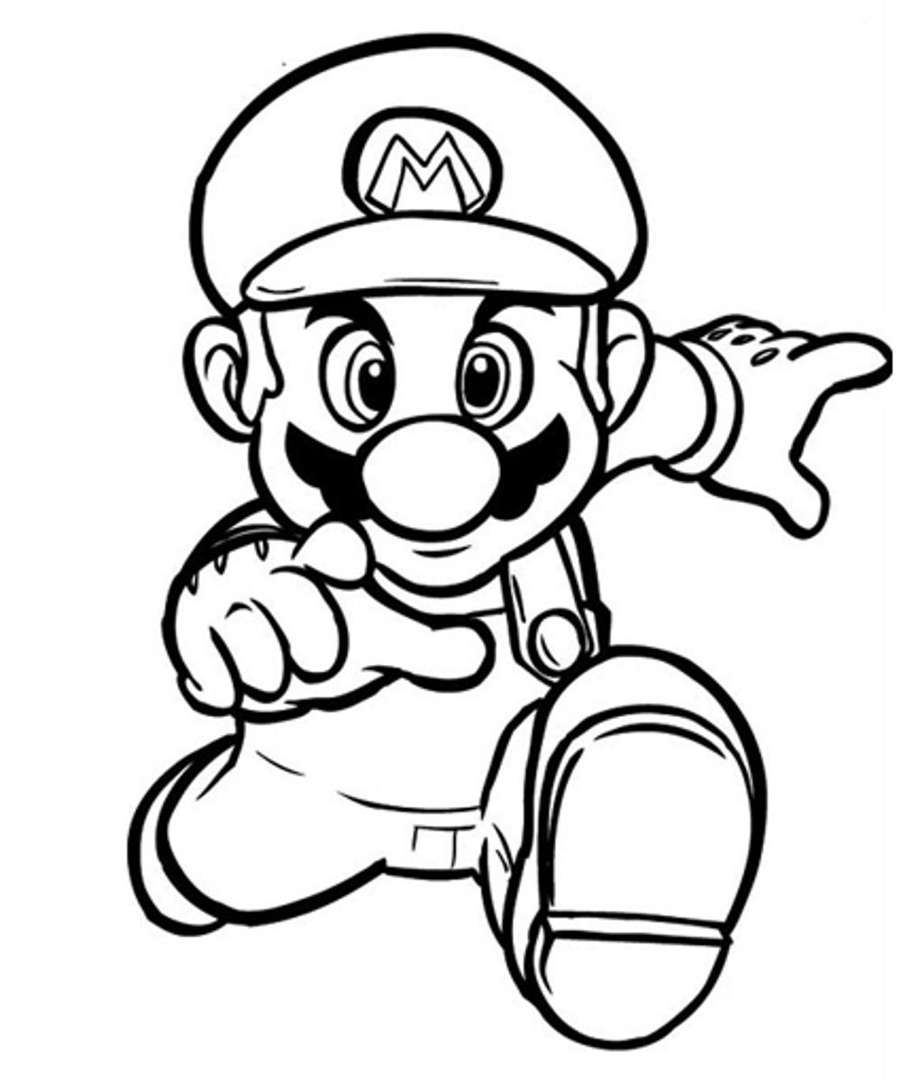 super mario pictures super mario with a star coloring pages printable super mario pictures