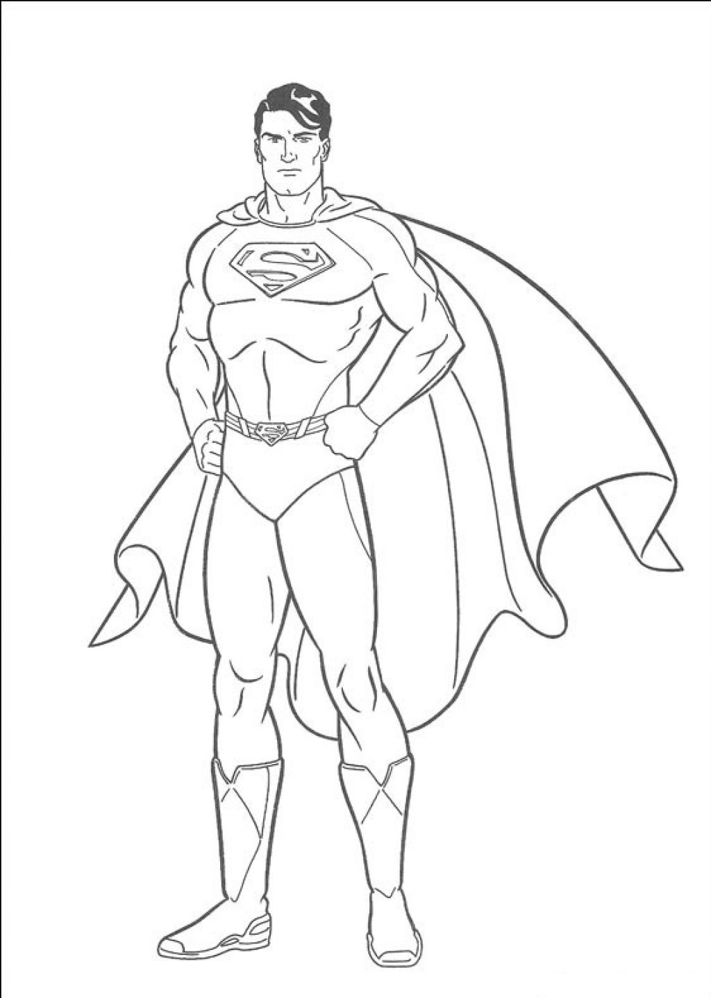 superman cartoon pictures for colouring coloring picture of a superman for colouring cartoon superman pictures