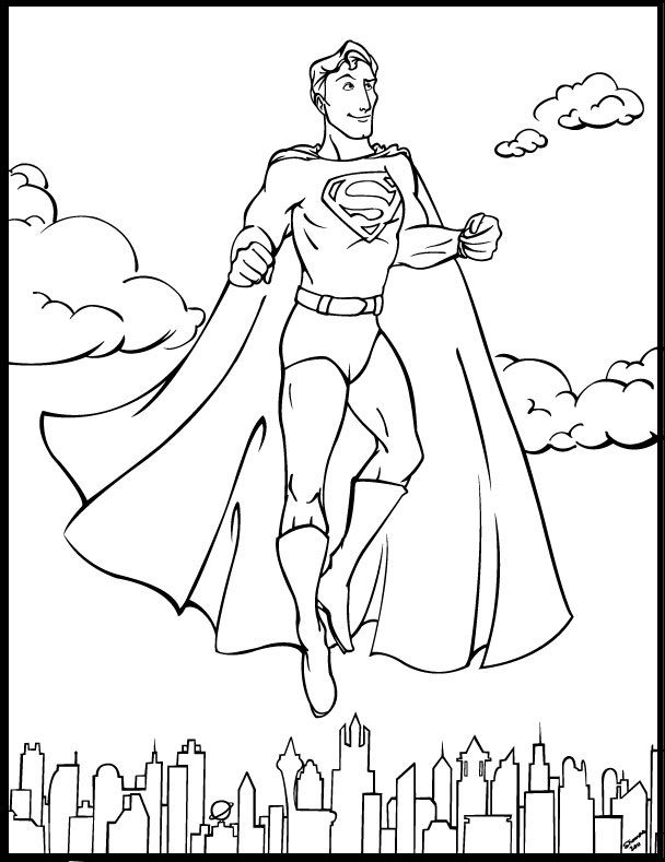 superman cartoon pictures for colouring superman cartoon coloring pages at getcoloringscom free cartoon colouring for superman pictures