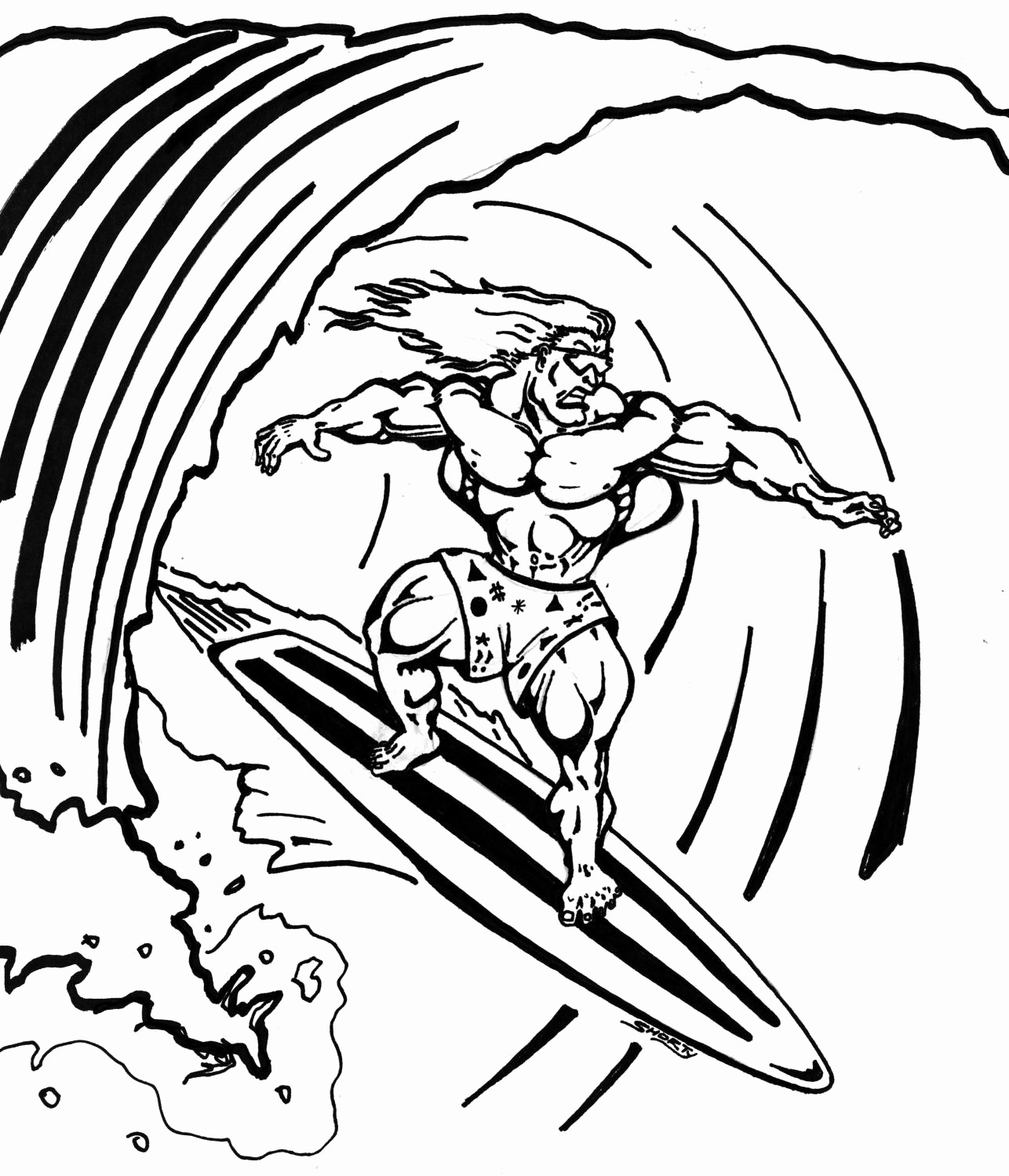 surfing coloring pages beach coloring page kids activity surfing boy free surfing pages coloring