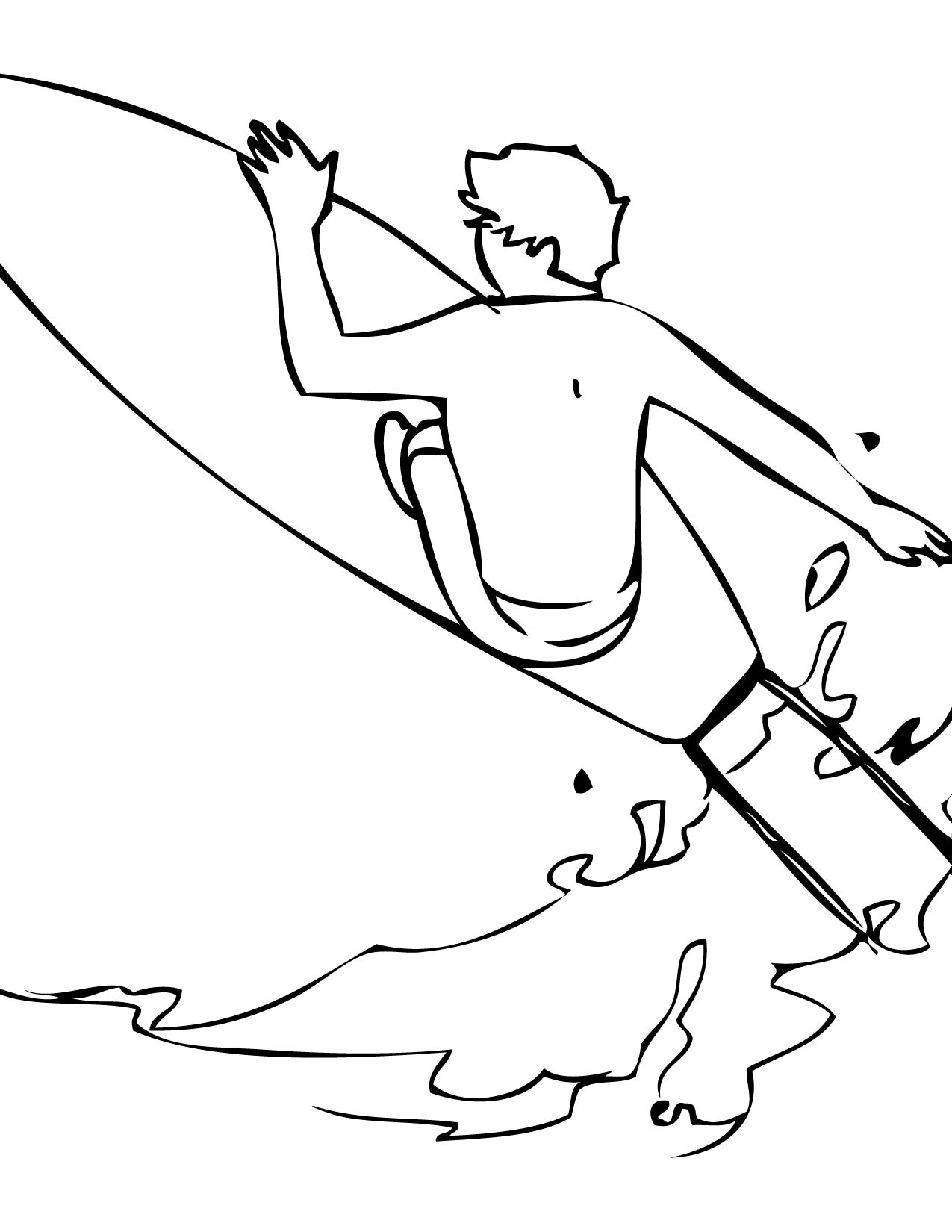 surfing coloring pages surfboard coloring sheet xyzcoloring coloring surfing pages