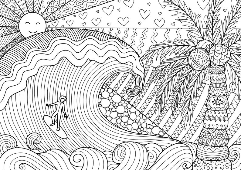 surfing coloring pages surfing coloring pages books 100 free and printable coloring surfing pages