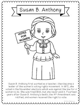 susan b anthony pictures in color susan b anthony coloring page free printable coloring pages pictures anthony in color b susan