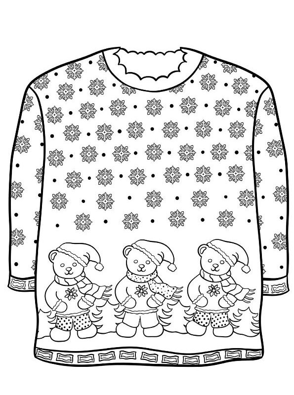sweater coloring page christmas sweater coloring pages by karyn teach beside me coloring sweater page