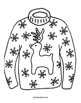sweater coloring page christmas ugly sweater with a snowman motif coloring page coloring page sweater