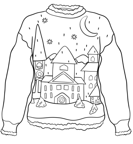 sweater coloring page christmas ugly sweater with a teddy bear motif coloring page sweater coloring