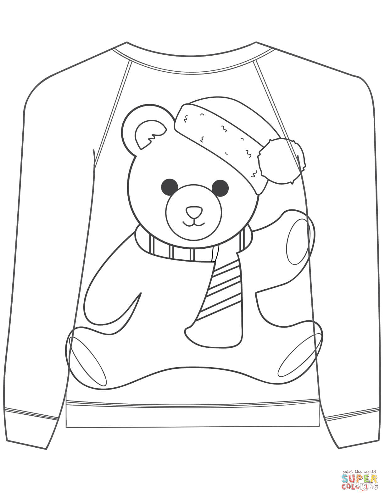 sweater coloring page free ugly christmas sweater coloring pages printable coloring sweater page