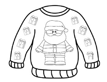 sweater coloring page free ugly christmas sweater coloring pages printable page coloring sweater