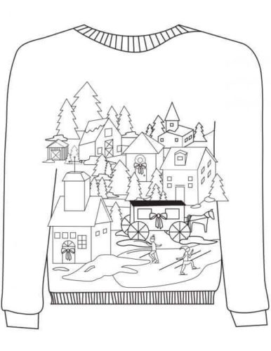 sweater coloring page kids n funcom 14 coloring pages of christmas ugly sweaters coloring page sweater