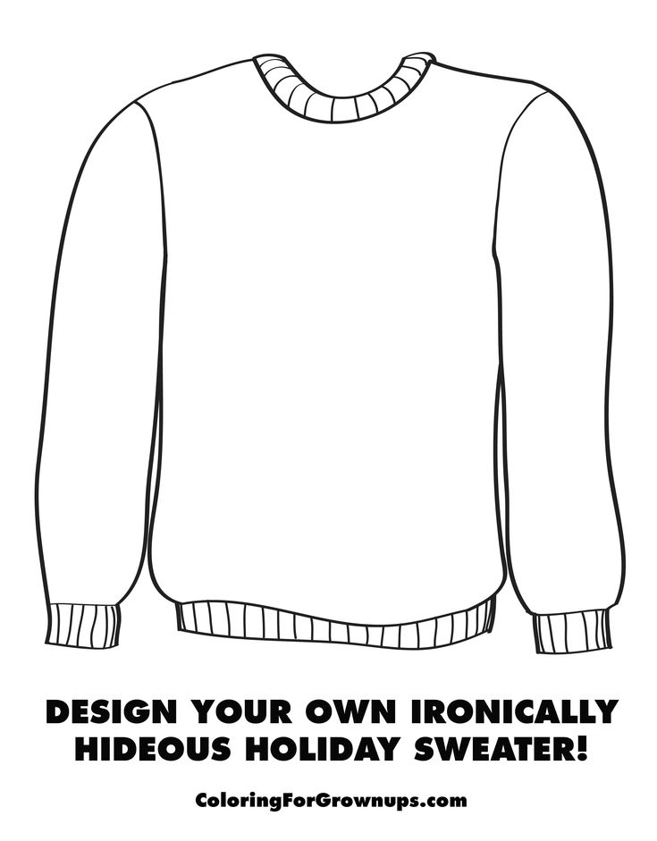 sweater coloring page printed wool sweater coloring page coloringcrewcom sweater coloring page
