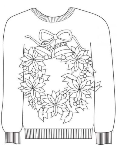 sweater coloring page quotugly sweaterquot coloring pages by myacestraw teachers pay sweater page coloring