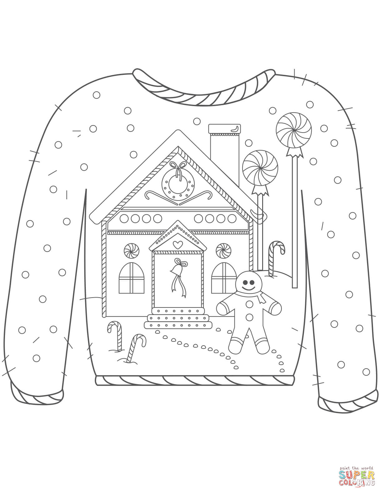 sweater coloring page sweater coloring page at getcoloringscom free printable sweater page coloring
