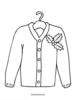 sweater coloring page sweater coloring page sweater page coloring