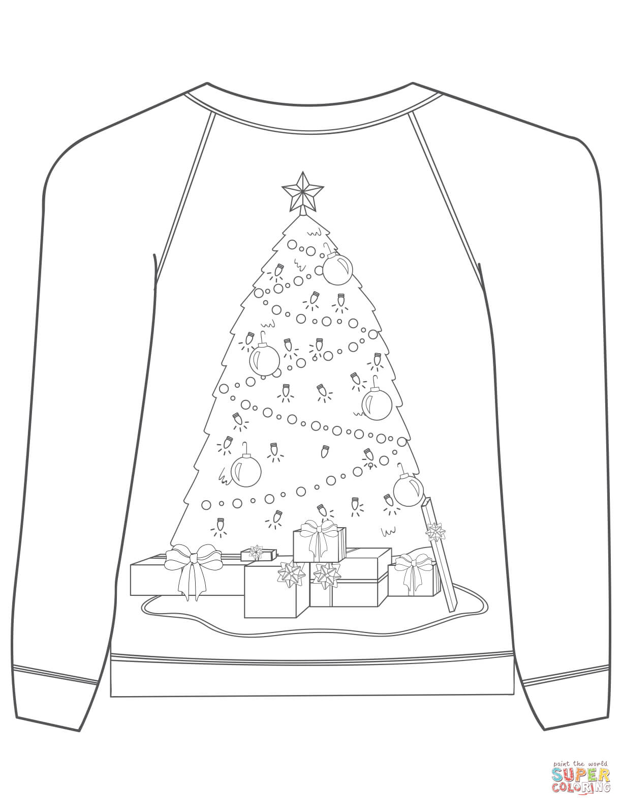 sweater coloring page sweater coloring sheet coloring pages coloring sweater page