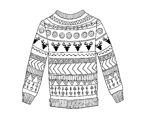 sweater coloring page sweater of wool coloring page coloringcrewcom coloring sweater page