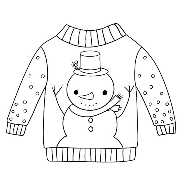 sweater coloring page sweater picture to coloring coloring sweater page