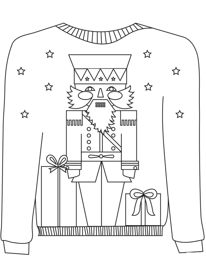 sweater coloring page ugly sweater cardigan coloring page coloring pages sweater page coloring