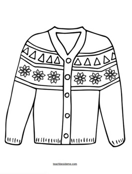 sweater coloring page winter sweater coloring page page sweater coloring