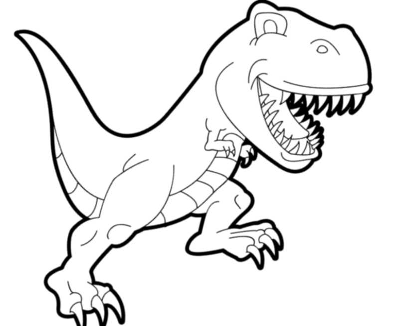 T rex coloring pictures