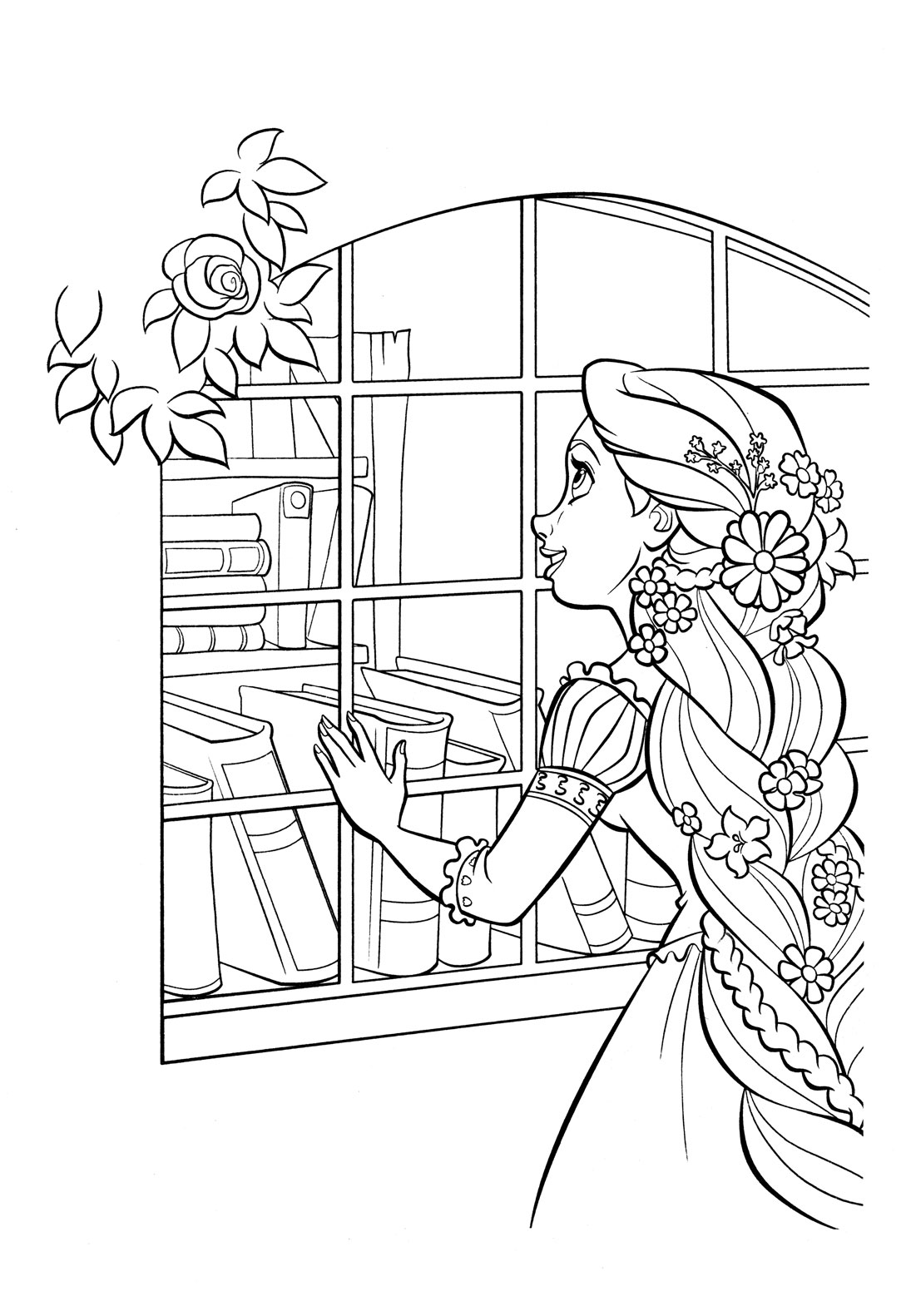 tangled coloring coloring page mother gothel and rapunzel tangled coloring