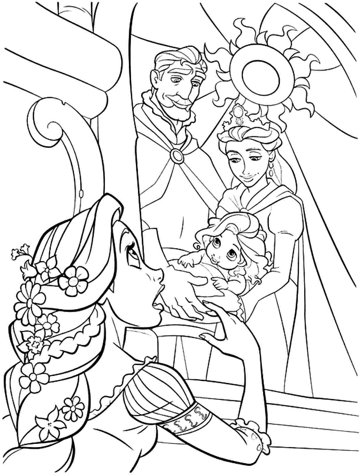 Tangled coloring page