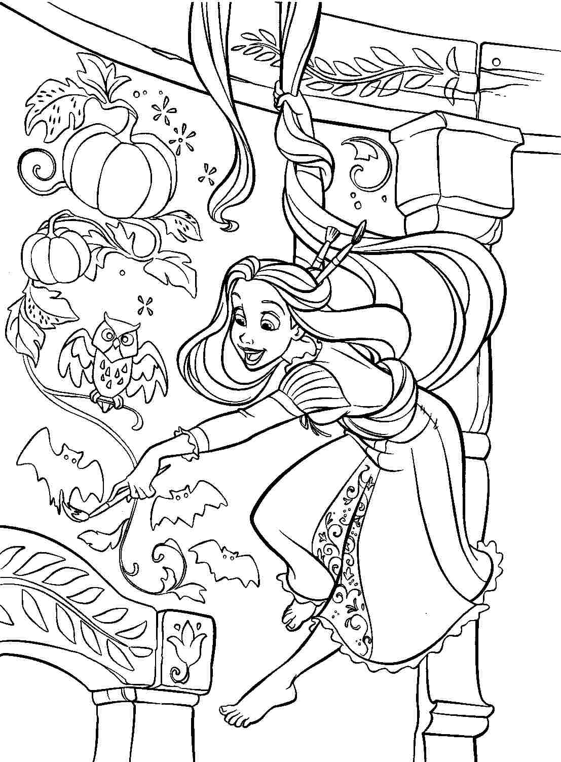 tangled coloring rapunzel coloring pages print and colorcom coloring tangled 1 1