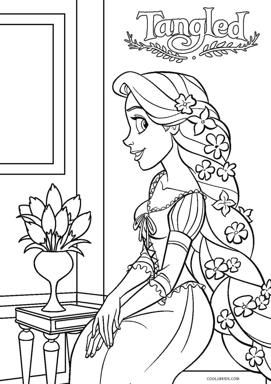 tangled for coloring free printable tangled coloring pages for kids coloring for tangled