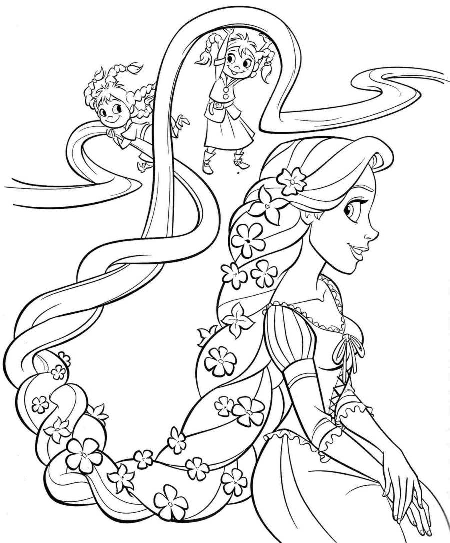 tangled for coloring rapunzel tangled coloring pages at getdrawings free download coloring tangled for