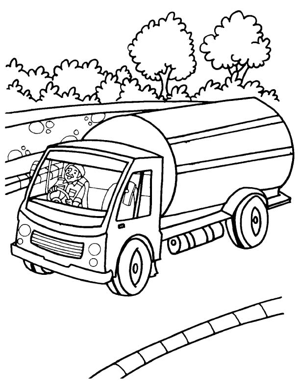 tanker truck coloring page 40 free printable truck coloring pages download tanker coloring truck page