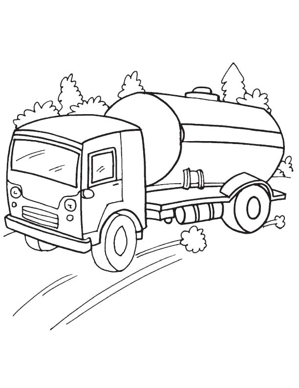 tanker truck coloring page double tanker trailer truck coloring page kids play color tanker coloring page truck