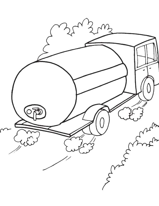 tanker truck coloring page oil tank truck coloring pages free printable oil tank truck coloring page tanker 1 2
