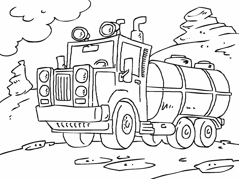 tanker truck coloring page tanker truck coloring pages at getcoloringscom free tanker truck page coloring