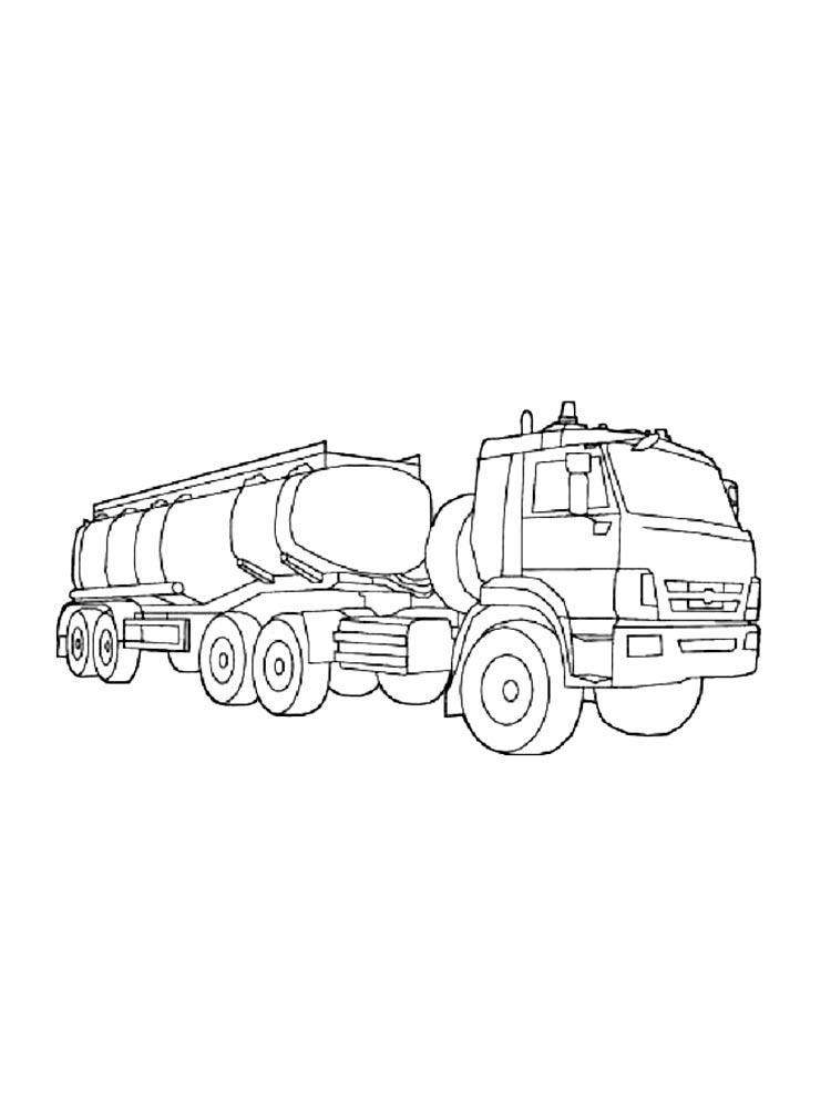 tanker truck coloring page tanker truck drawing at getdrawings free download coloring tanker truck page