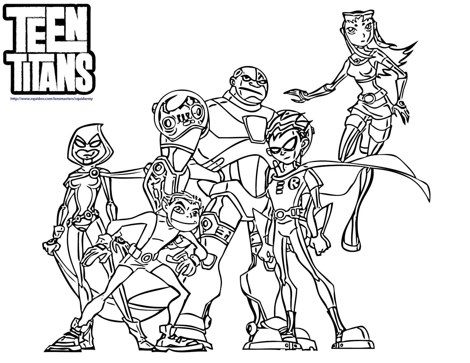 teen titans coloring pages teen titans go cybork panosundaki pin titans pages coloring teen