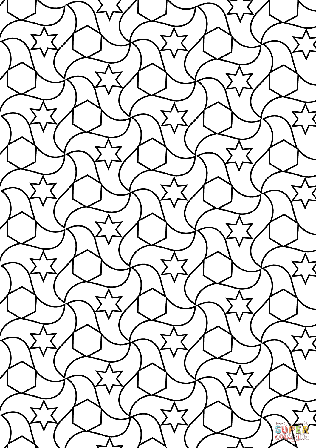 tessellation colouring pages tessellation drawing at getdrawings free download colouring pages tessellation