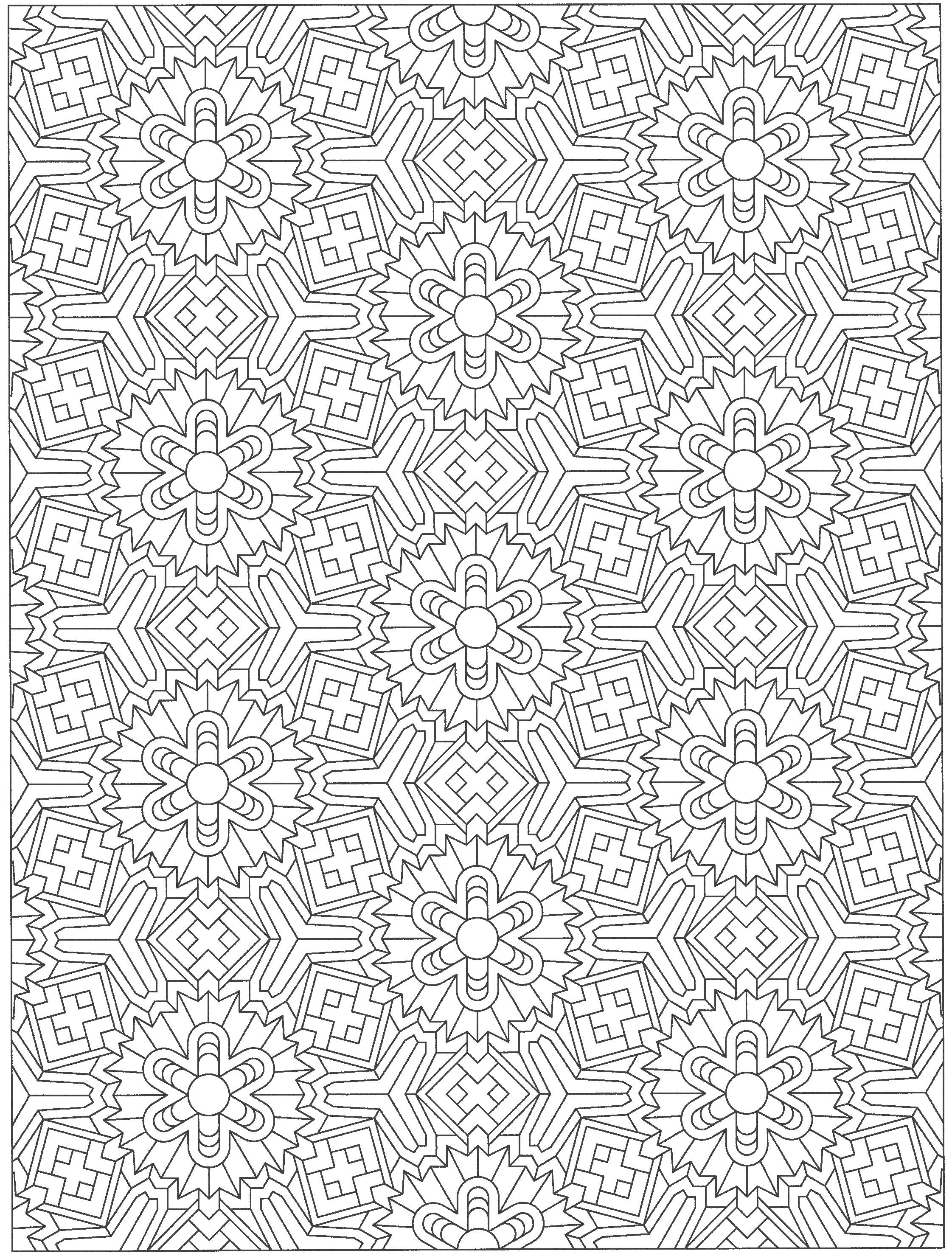 tessellation colouring pages tessellation pattern geometric coloring pages detailed tessellation pages colouring