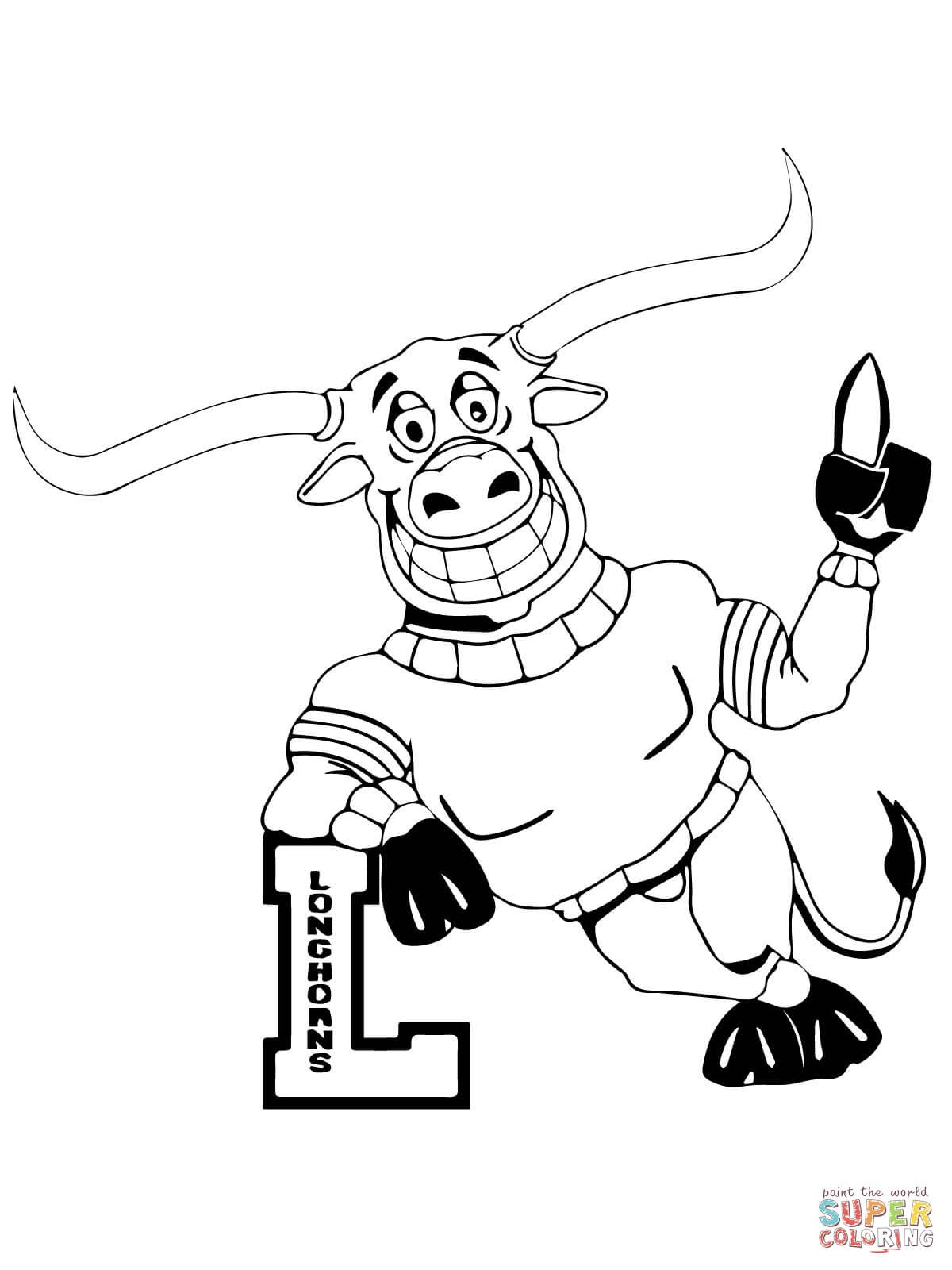 texas longhorns coloring pages texas longhorn coloring page booth western art museum texas pages longhorns coloring
