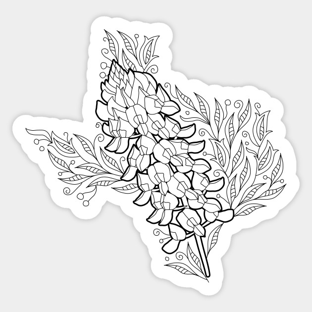 texas state flower texas state flower coloring page youngandtaecom in 2020 texas state flower