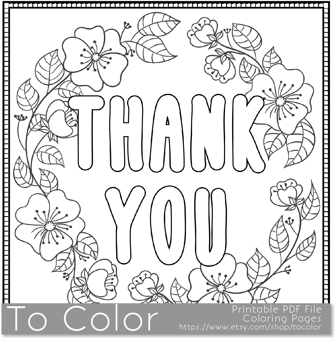 Thank you coloring sheets