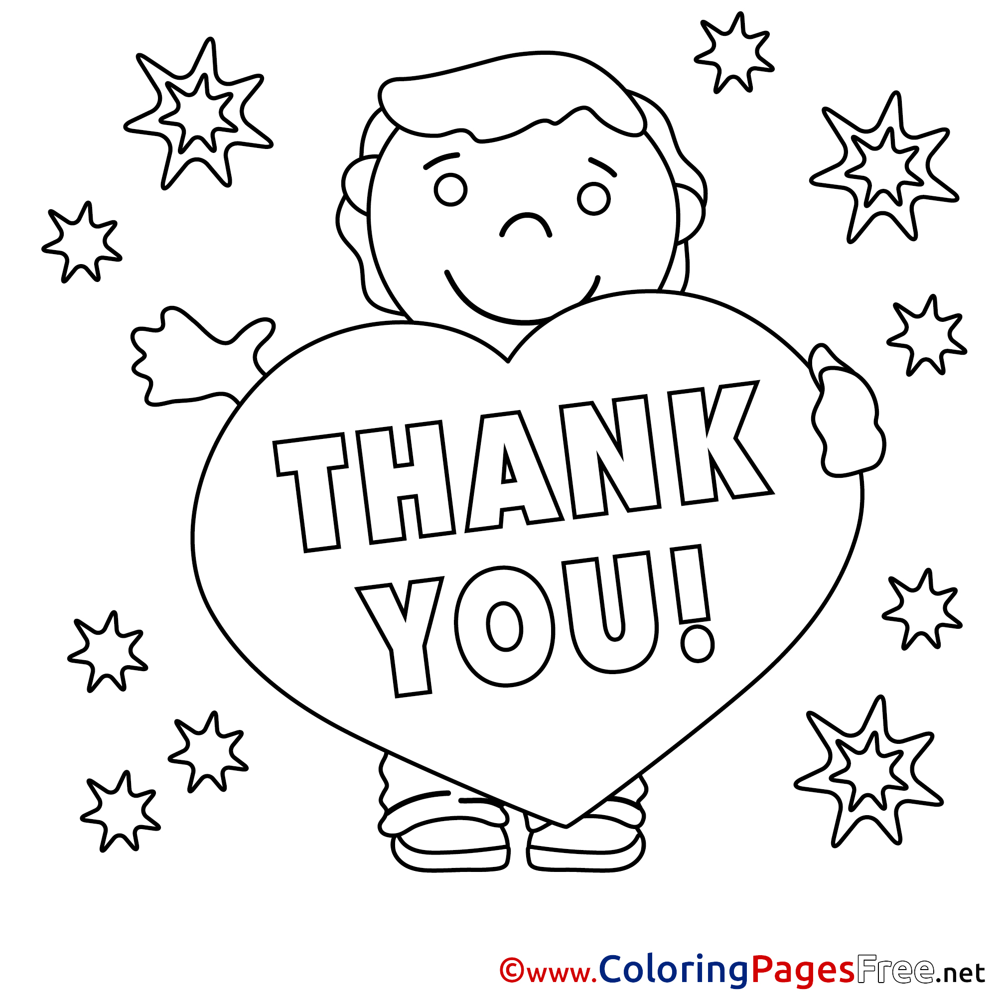 thank you coloring sheets thank you coloring pages free boy stars sheets coloring thank you
