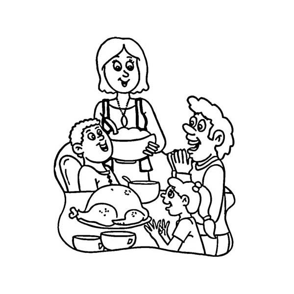 thanksgiving dinner coloring pages a happy family on thanksgiving day dinner coloring page dinner pages coloring thanksgiving