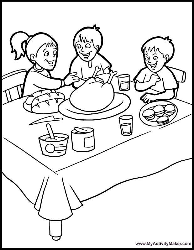 thanksgiving dinner coloring pages dinner coloring pages kidsuki coloring thanksgiving pages dinner