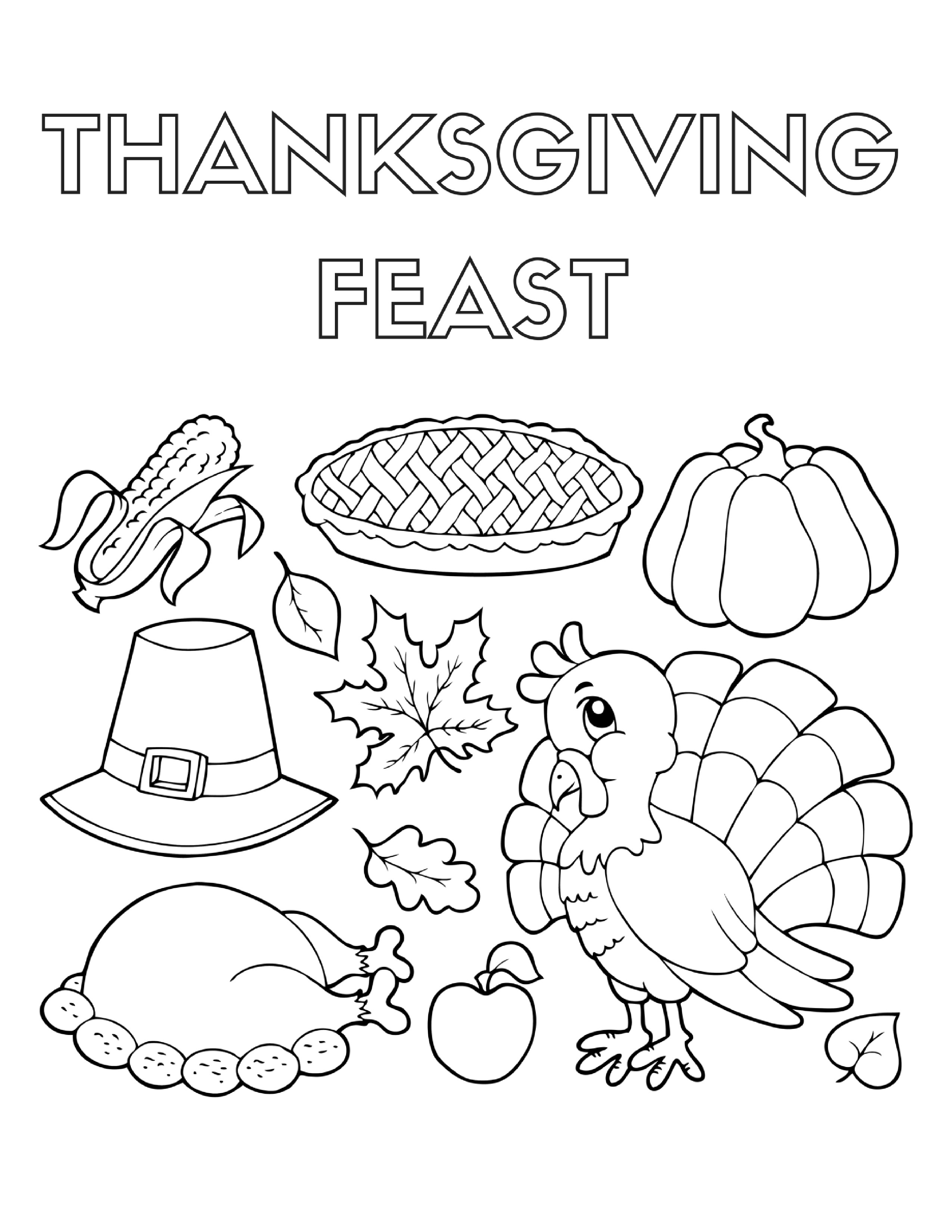 thanksgiving dinner coloring pages thanksgiving feast drawing at getdrawings free download pages coloring dinner thanksgiving