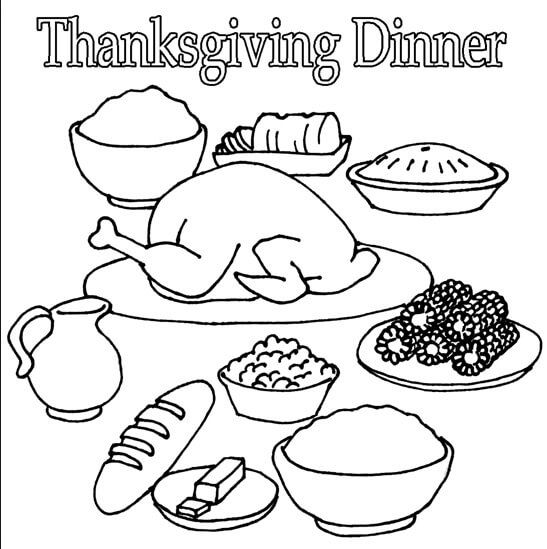 thanksgiving food coloring pages 40 printable thanksgiving coloring pages for kids food thanksgiving coloring pages