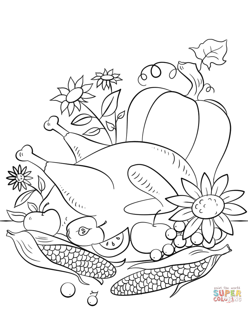 thanksgiving food coloring pages thanksgiving food coloring page free printable coloring thanksgiving coloring food pages
