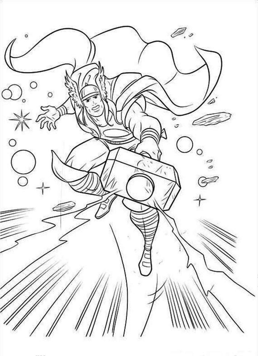 thor printable coloring pages thor coloring page for children pages coloring thor printable