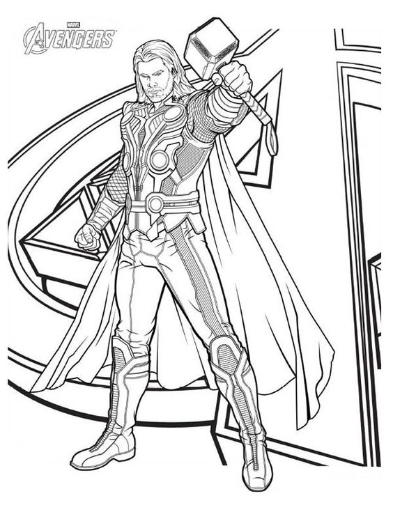 thor printable coloring pages thor coloring pages to print the avengers avengers pages printable thor coloring