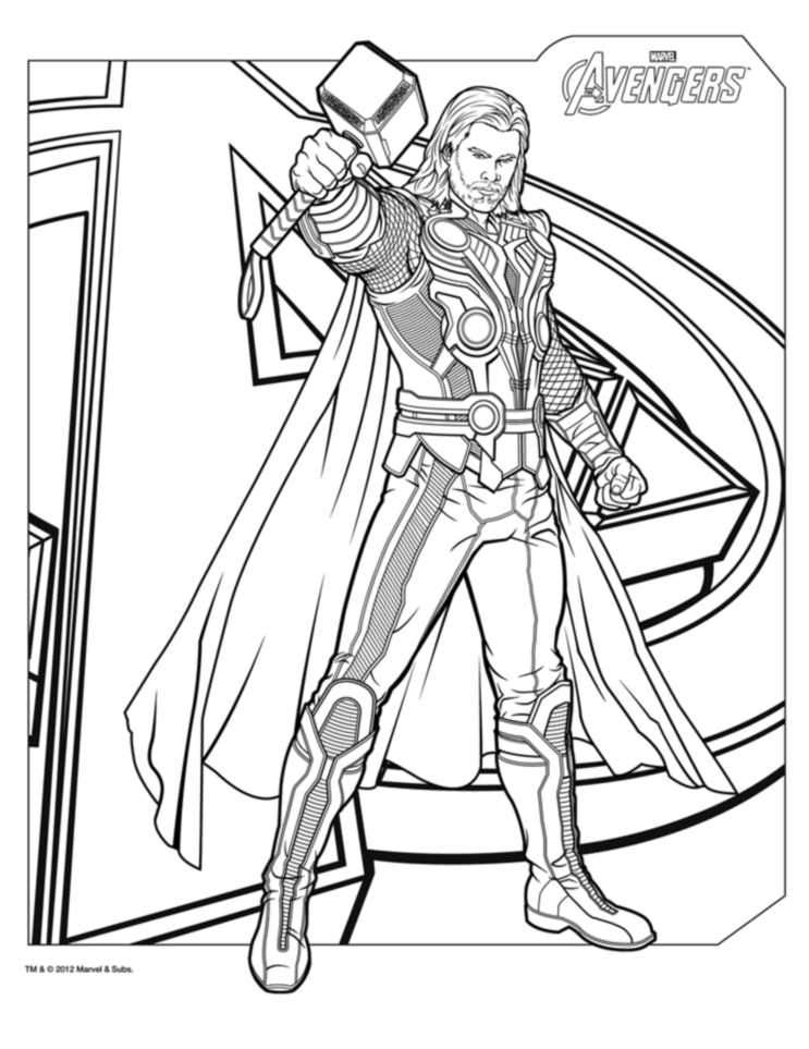 thor printable coloring pages thor to download for free thor kids coloring pages pages thor printable coloring